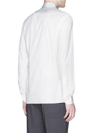 背面 - 点击放大 - LANVIN - 罗缎衣领纯棉衬衫