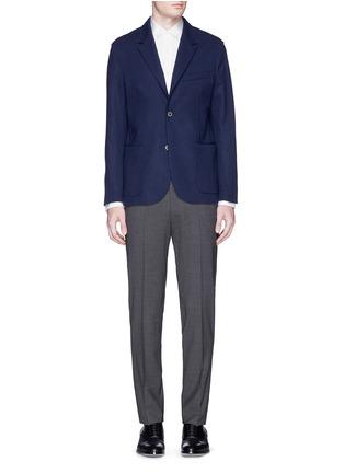 模特示范图 - 点击放大 - LANVIN - 罗缎衣领纯棉衬衫