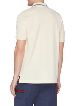 背面 - 点击放大 - GUCCI - 拼色双G星星船锚图案棉质珠地布polo衫