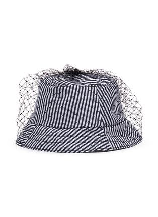 首图 - 点击放大 - BERNSTOCK SPEIRS - 网纱条纹纯棉渔夫帽