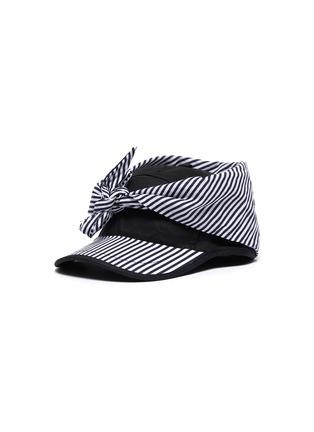 首图 - 点击放大 - BERNSTOCK SPEIRS - 条纹系结搭叠纯棉棒球帽
