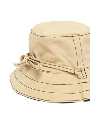 细节 - 点击放大 - BERNSTOCK SPEIRS - 系带车缝线纯棉渔夫帽