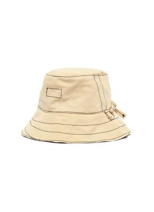 模特儿示范图 - 点击放大 - BERNSTOCK SPEIRS - 系带车缝线纯棉渔夫帽