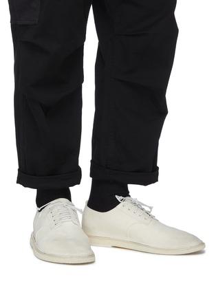 模特儿示范图 - 点击放大 - MARSÈLL - 系带真皮德比鞋