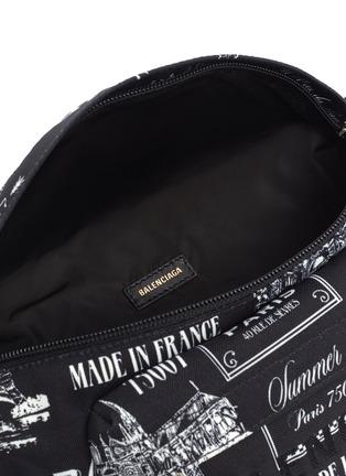 细节 - 点击放大 - BALENCIAGA - WHEEL PARIS品牌名称趣味图案英文字腰包