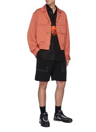 模特儿示范图 - 点击放大 - PRONOUNCE - 翻盖口袋羊毛夹克