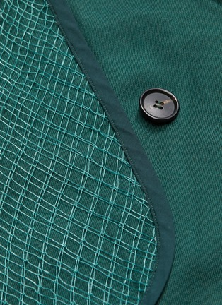 - PRONOUNCE - 枪驳领网眼点缀拼贴口袋羊毛大衣