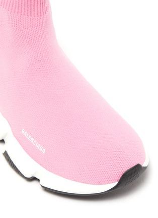 细节 - 点击放大 - BALENCIAGA - SPEED儿童款LOGO袜靴式针织运动鞋
