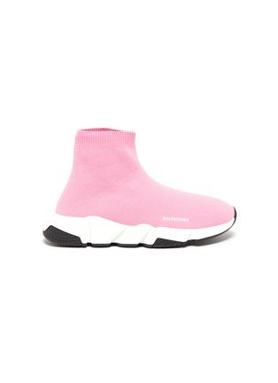 首图 - 点击放大 - BALENCIAGA - SPEED儿童款LOGO袜靴式针织运动鞋