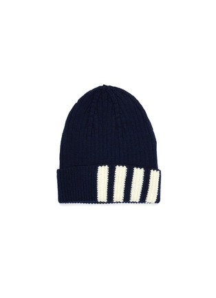首图 - 点击放大 - THOM BROWNE - 四重条纹羊绒罗纹针织帽