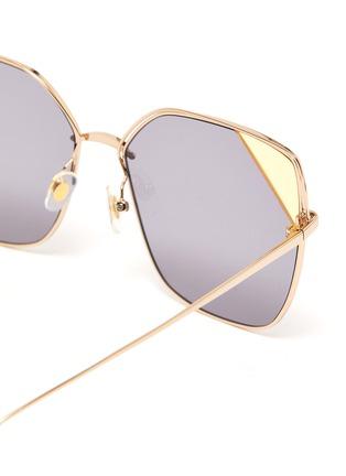 细节 - 点击放大 - STEPHANE + CHRISTIAN - 镂空拼色镜片金属太阳眼镜