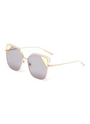 首图 - 点击放大 - STEPHANE + CHRISTIAN - 镂空拼色镜片金属太阳眼镜