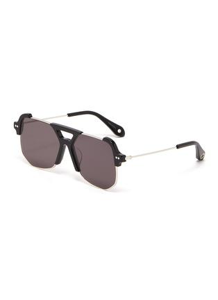 首图 - 点击放大 - STEPHANE + CHRISTIAN - D形镜框板材拼接金属太阳眼镜
