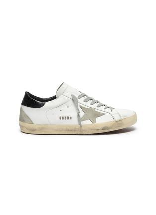 首图 - 点击放大 - GOLDEN GOOSE - SUPERSTAR拼接设计五角星做旧感真皮运动鞋
