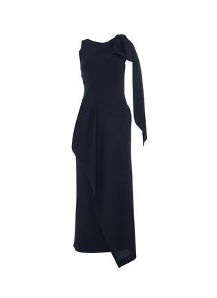 首图 - 点击放大 - ROLAND MOURET - GOLDCREST搭叠垂坠布饰开衩绉绸连衣裙