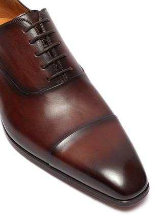 细节 - 点击放大 - MAGNANNI - 系带真皮牛津鞋