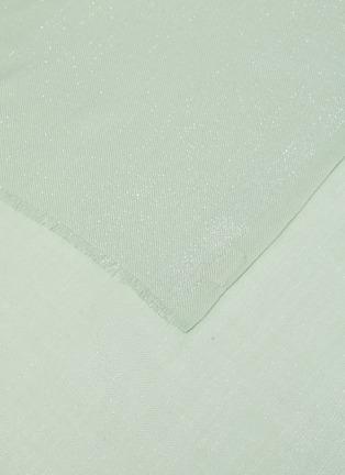 细节 - 点击放大 - Janavi - 金属丝线点缀超细美丽诺羊毛围巾