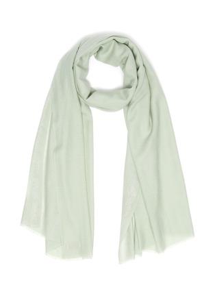 首图 - 点击放大 - Janavi - 金属丝线点缀超细美丽诺羊毛围巾