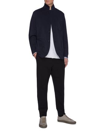 模特儿示范图 - 点击放大 - JIL SANDER - 抽绳裤腰纯棉休闲裤