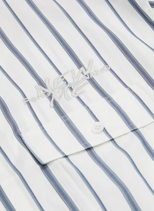 - Feng Chen Wang - x Lane Crawford拼色抽象图案条纹混棉衬衫