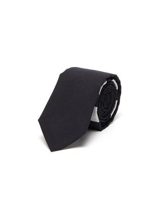 首图 - 点击放大 - THOM BROWNE - 拼色四重条纹羊毛领带