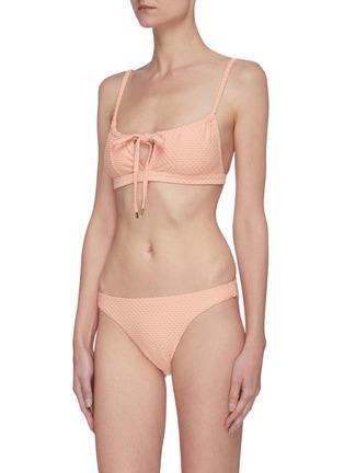 模特儿示范图 - 点击放大 - PEONY - APRICOT波点比基尼泳裤
