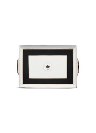首图 –点击放大 - RICHARD GINORI - Contessa Onice金围边拼色器皿图案陶瓷托盘-黑色及白色