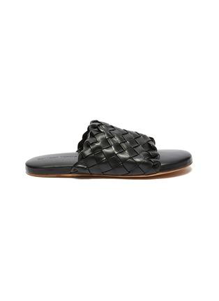 首图 - 点击放大 - BOTTEGA VENETA - Foot Bed交叠编织真皮拖鞋