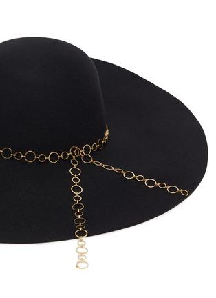 细节 - 点击放大 - EUGENIA KIM - BUNNY圆环链条帽带羊毛毡宽檐帽