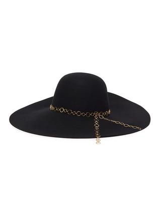 首图 - 点击放大 - EUGENIA KIM - BUNNY圆环链条帽带羊毛毡宽檐帽