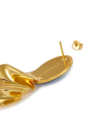 细节 - 点击放大 - EJING ZHANG - MARTINEAU树脂几何造型镀18k金纯银耳环