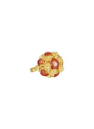 首图 - 点击放大 - CENTAURI LUCY - EYCK钻石珍珠母贝点缀花簇造型18K黄金戒指