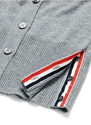细节 - 点击放大 - THOM BROWNE - 条纹点缀羊绒针织衫
