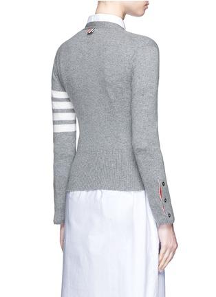 背面 - 点击放大 - THOM BROWNE - 条纹点缀羊绒针织衫