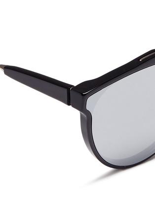 细节 - 点击放大 - SUPER - GIAGUARO中性款金属拼接圆框太阳眼镜
