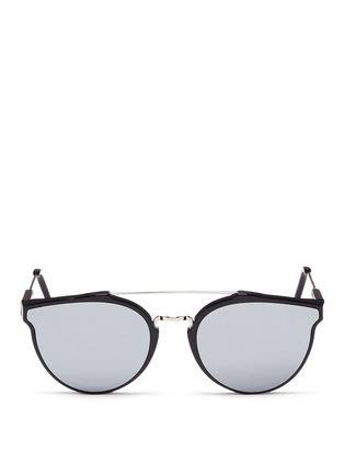 首图 - 点击放大 - SUPER - GIAGUARO中性款金属拼接圆框太阳眼镜