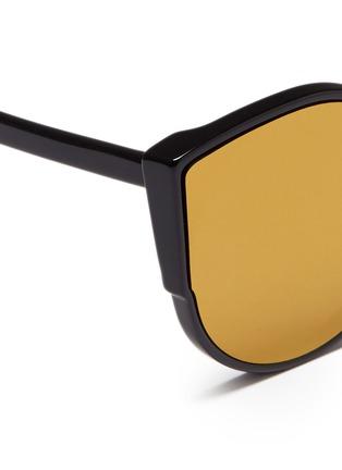 细节 - 点击放大 - SUPER - LUCIA中性款猫眼圆形太阳眼镜