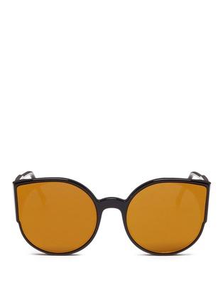 首图 - 点击放大 - SUPER - LUCIA中性款猫眼圆形太阳眼镜