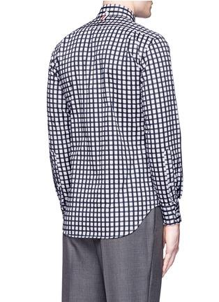 背面 - 点击放大 - Thom Browne - 格纹纯棉衬衫
