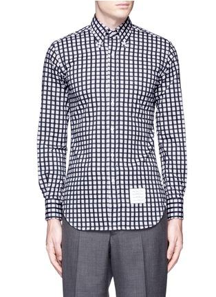 首图 - 点击放大 - Thom Browne - 格纹纯棉衬衫
