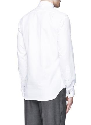 背面 - 点击放大 - THOM BROWNE - 褶饰拼贴菱格提花礼服衬衫