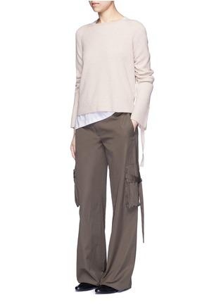 模特示范图 - 点击放大 - HELMUT LANG - 抽绳衣袖羊毛混羊绒针织衫