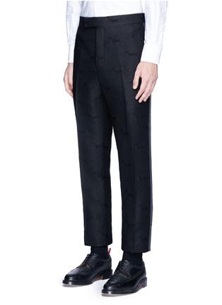 正面 -点击放大 - Thom Browne - 腊肠犬提花条纹及踝裤