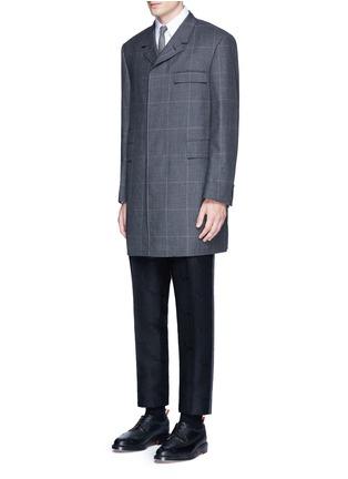 模特儿示范图 - 点击放大 - Thom Browne - 腊肠犬提花条纹及踝裤