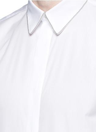 细节 - 点击放大 - GIVENCHY - 链条装饰纯棉府绸衬衫