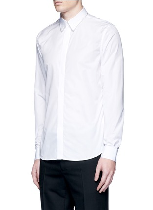 正面 - 点击放大 - GIVENCHY - 链条装饰纯棉府绸衬衫