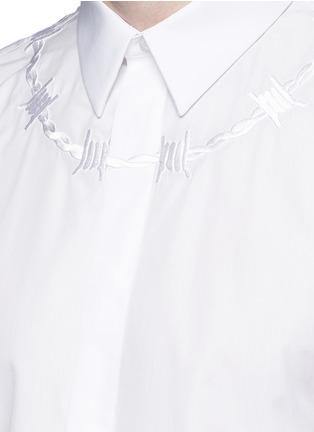 细节 - 点击放大 - GIVENCHY - 荆棘刺绣纯棉府绸衬衫