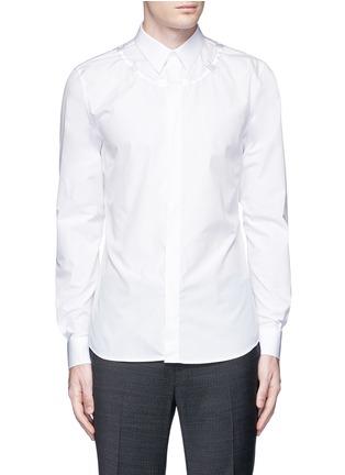 首图 - 点击放大 - GIVENCHY - 荆棘刺绣纯棉府绸衬衫