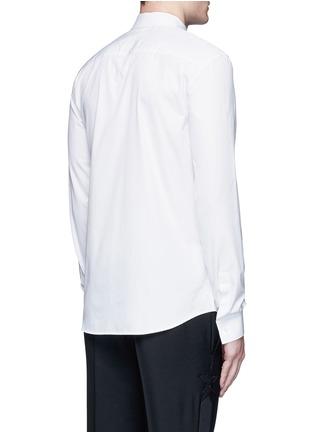 背面 - 点击放大 - GIVENCHY - 三角领饰纯棉府绸衬衫