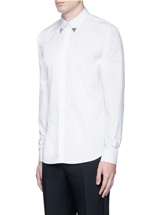 正面 -点击放大 - GIVENCHY - 三角领饰纯棉府绸衬衫